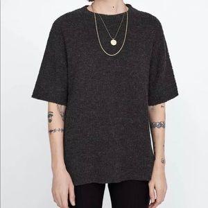 Zara Soft Feel Texture Loose Fit  T Shirt